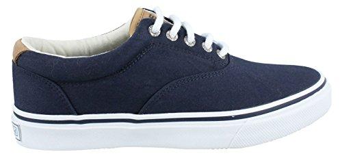 - SPERRY Men's, Striper Laced Canvas Casual Shoes Dark Navy 7 M