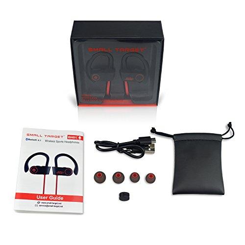 Bluetooth Headphones, Small Target Best Wireless Sport Earphones W/Mic IPX7 Waterproof Stable