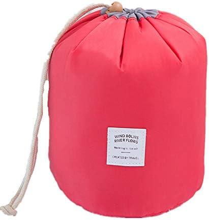 化粧品袋 多機能トラベルコスメティックバッグ大容量の化粧ケースポータブル化粧品収納ボックス 旅行化粧収納ボックス (Color : Red)