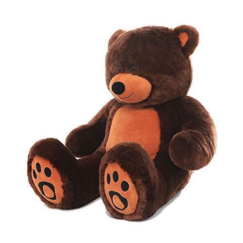 - WOWMAX 6 Foot Giant Huge Life Size Teddy Bear Danny Cuddly Stuffed Plush Animals Teddy Bear Toy Doll for Birthday Christmas Dark Brown 72 Inches