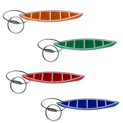 Fox Pvc Keychain - NATFUR 4X Compact PVC Kayak Canoe Keychain Key Ring Key Fob for Car Key Luggage Bag Elegant Pretty Novelty Key-Chain Holder Perfect for Girls Elegant Fine Beauteous