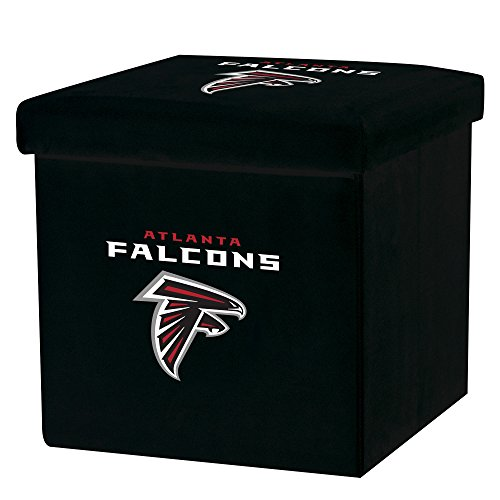 Falcons Collapsible (Franklin Sports NFL Atlanta Falcons Storage Ottoman with Detachable Lid 14 x 14 x 14 - Inch)