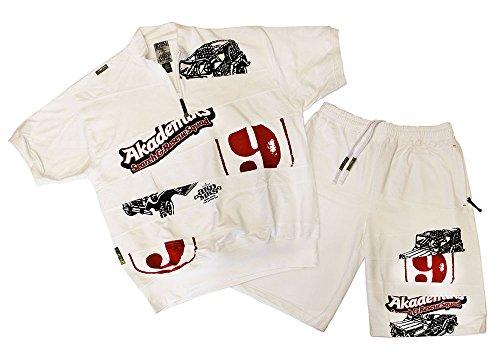 Akademiks Shorts Set White by Akademiks
