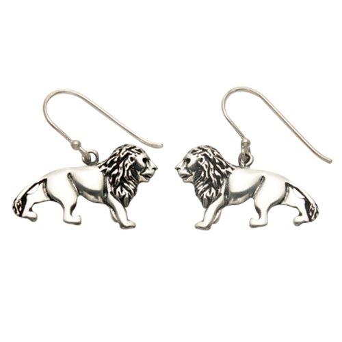 Sterling Silver Lion Wire Earrings