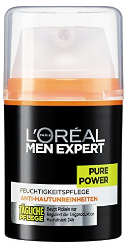 L'Oréal Men Expert Pure Power Feuchtigkeitscreme zur täglichen Gesichtspflege (spendet 24h Feuchtigkeit) 1 x 50 ml