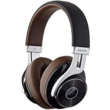 Edifier W855BT Bluetooth Headphones - Over-ear Stereo Wireless Headphone with Microphone and Volume Control - Brown/Black