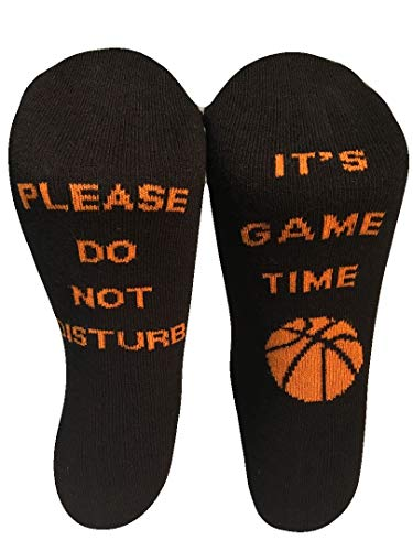 Please Do Not Disturb it's Gametime - Funny Socks for Basketball Fans - Unisex, One Size Fits All Gift Socks