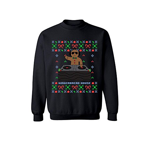 grafIQ Gingerbread House Ugly Christmas Sweater Crewneck - Xmas (Breads Xmas)