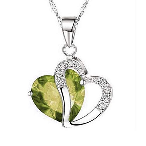 Babnane Women Elegant Style Rhinestone Necklaces Heart Shape Pendant Clavicle Chain Necklace Jewelry Sets