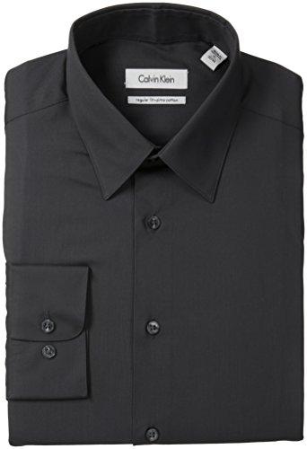 Men's Regular Fit Pima Cotton Solid, Charcoal, 17 34/35