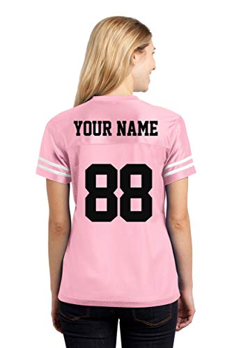 Custom Sports Jerseys for Ladies - Make Your OWN Jersey T Shirts & Team Uniforms Light Pink