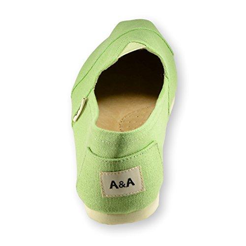 A & Een Klassieke Instapper Alpargatas, Vrijetijdsschoenen Voor Dames En Heren (unisex) Groen