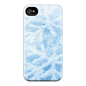 Excellent Design Snowflakes Frosted Phone Case For Iphone 4/4s Premium Tpu Case by runtopwell