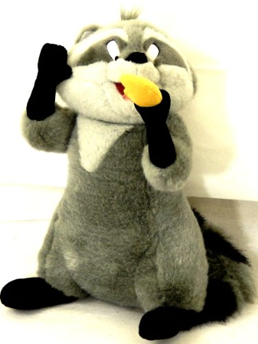 Meeko Stuffed Racoon Pocahontas Movie Disneyland WDW Posable Plush Animal with Cookie (Cookie Pocahontas)