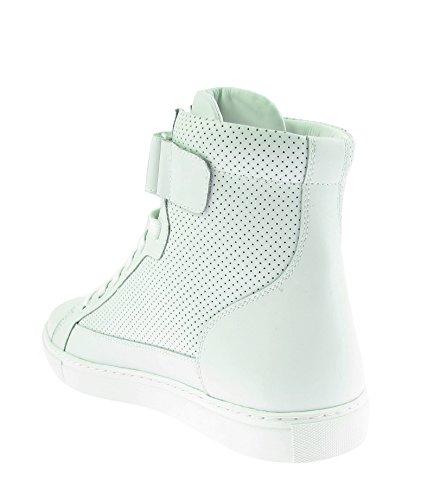 Armani Jeans 935,042 Mænd Mænd Hi-top Sneakers Sko Sko Hvid Hvid Læder