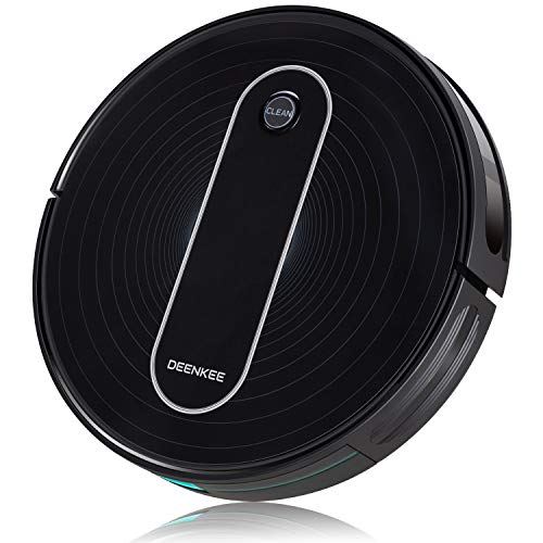 DEENKEE Robot Vacuum,1500Pa High Suction,2.8 inch Super-Thin,6 Cleaning Modes,Quiet,Timing Function,Self-Charging Robotic Vacuum Cleaner for Pet Hair,Hard Floor,Carpet