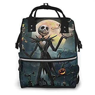 Diaper Bag Backpack Jack And Sally The Nightmare Before Christmas Multifunction Waterproof Travel Backpack Maternity For Baby Boy Nappy Changing Bags