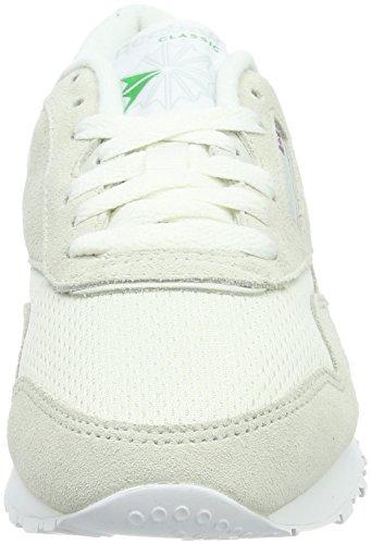 Da Reebok Flash Green Fbt Nylon Basse Ginnastica Skull Bianco Big Scarpe Grey Donna chalk Classic Elect White aIBIxwqrT