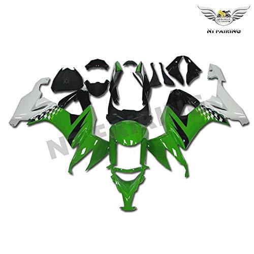 New Green White Fairing Fit for Kawasaki Ninja 2008 2009 2010 ZX10R ZX-10R Injection Mold ABS Plastics Aftermarket Bodywork Bodyframe 08 09 10