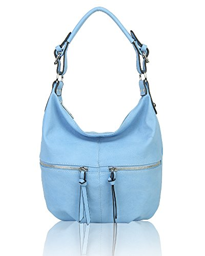 Piel M Hombro Azul Bolso Mujer Foxlady Al De Sintética Para I7wF8qRUx