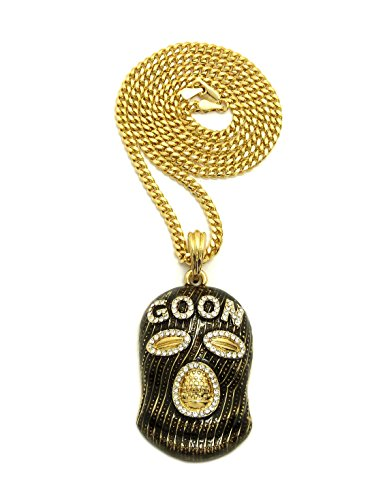 Fashion 21 Iced Out Goon Ski Mask Man Pendant 24