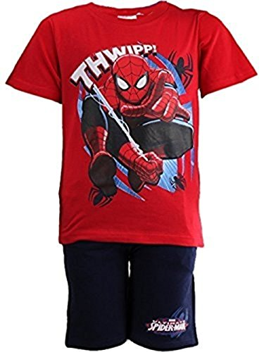 Price comparison product image Kids Official Licensed Marvel Spiderman Pajamas / Pyjama Set (3 Years (98 CM), Red)