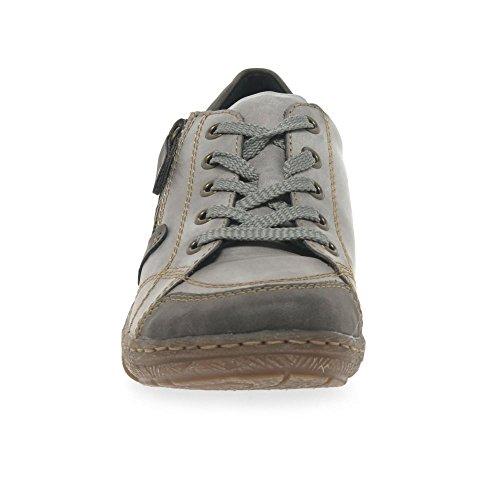 Cordones Grey Stromboli Derby de para D3808 Mujer Zapatos Remonte qpzStcZz