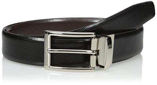 Van Heusen Men's Non Stitched Leather Reversible Belt, black/Brown, 44