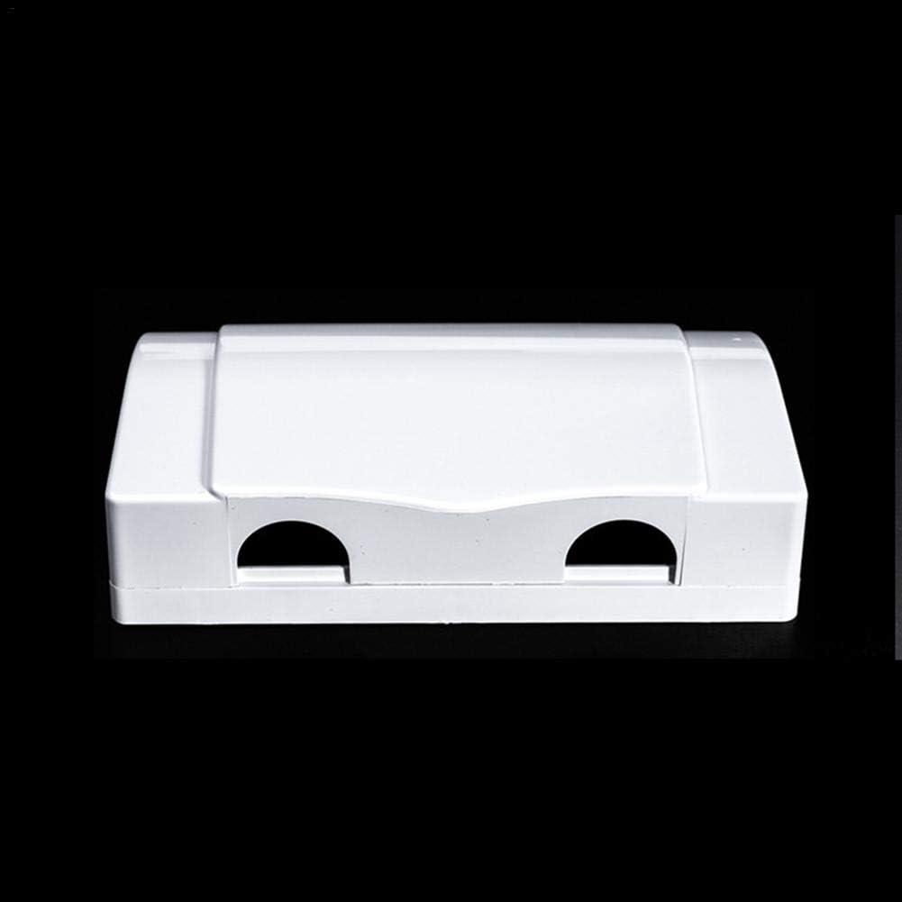 Kitabetty Steckdosenabdeckung Box Bietet zus/ätzlichen Platz f/ür Stecker und Adapter Abdeckung der Hauptsteckdose Elektrische Steckerabdeckung Steckdosenschutz f/ür Babysicherheit