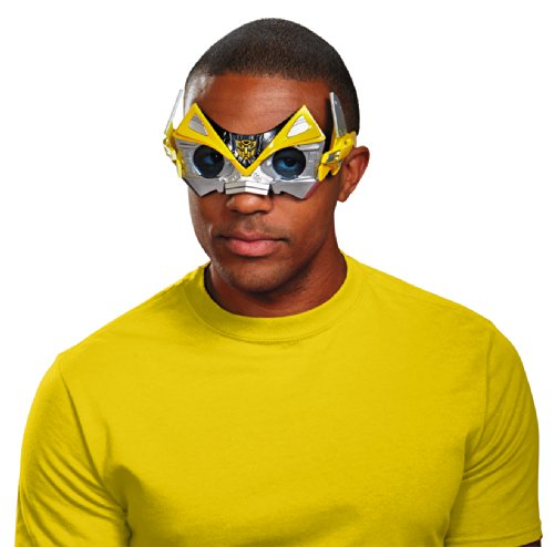 Disguise Men's Hasbro Transformers Age Of Extinction Movie Bumblebee Adult Movie Costume Glasses, Yellow/Black, One Size (Adult Transformers Costume)