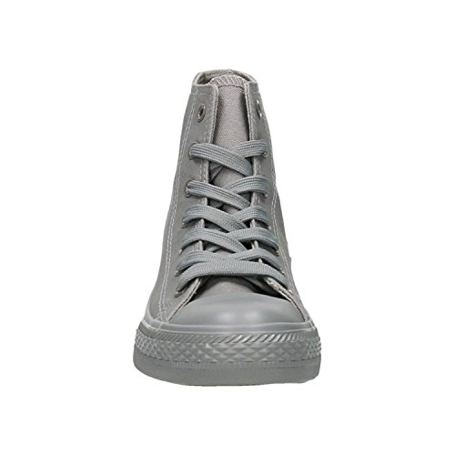 King Of Shoes Trendige Damen Sneakers Freizeit Turnschuhe High Top Fitness Sport Schnürer Schuhe 31 Grau
