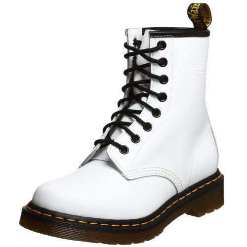 Dr. Marten's Women's 1460 8-Eye Patent Leather Boots, White Smooth Leather, 5 F(M) UK / 7 B(M) US Women / 6 D(M) US Men