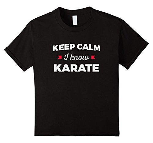 Full Contact Fighter T-shirt - unisex-child Keep Calm I Know Karate Martial Arts T-Shirt 10 Black