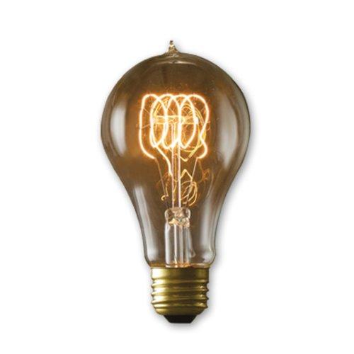 Antique Transparent (Bulbrite NOS40-VICTOR/A21 40-Watt Nostalgic Incandescent Edison A21, Victorian Loop Filament, Medium Base, Antique [6 Pack])