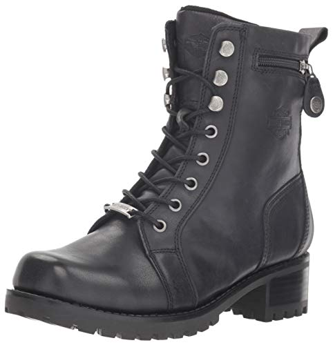 Harley-Davidson Women's Keeler Motorcycle Boot, Black, 9 M US