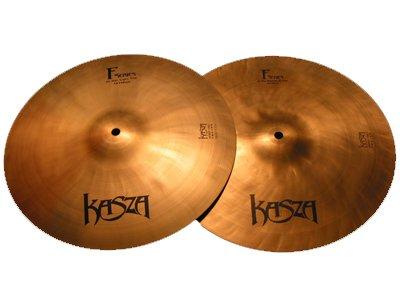 Kasza Cymbals Light Top/Medium Bottom Fusion Hi-hat Cymbals 14 in. by Kasza Cymbals