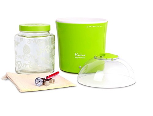 2-quarts Green Glass Jar Yogurt and Greek Yogurt Maker, Dimensions 7.5x7.5x10.5 (Dash Green Yogurt Maker compare prices)