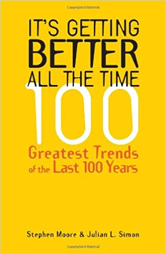 Its getting better all the time 100 greatest trends of the last its getting better all the time 100 greatest trends of the last 100 years stephen moore julian l simon 0884604984245 amazon books fandeluxe Choice Image
