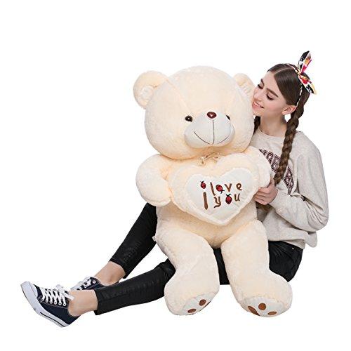 Stuffed Animal Teddy Bear Plush Soft Toy 100CM Huge Soft Toy White - 6