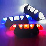 Glumes Sport LED Rear Bike Light USB Rechargeable Ultra Bright Powerful Safety Taillight High Intensity Rear LED Accessories Fits   4 Light Mode Options Waterproof for all Bikes/Helmets (Blue)