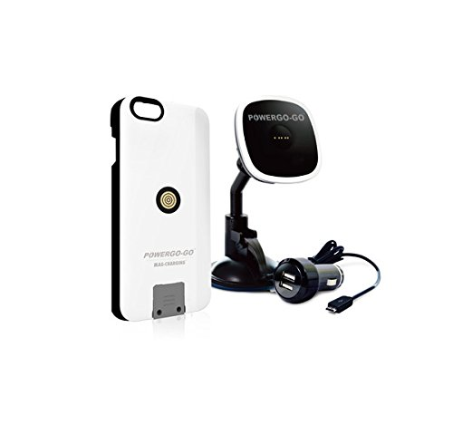 POWERGO-GO Charger & Cradle for Magnetic Wireless Charging Case for Smartphones - Retail Packaging - Black by POWERGO-GO