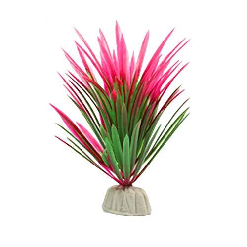 (Best Quality - Decorations - 13cm8 cm Artificial Plastic Green Plants Narcissus Water Grass Fish Tank Aquarium Decor Ornament - by SeedWorld - 1 PCs)