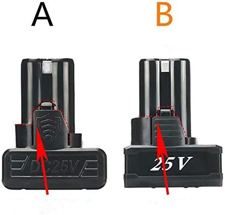 Color : 12V HUOGUOYIN Impact Driver Head 25V 21V 16.8V 12V 18650 Lithium Li-ion Battery for Cordless Screwdriver Electric Drill Battery Power Tools Charger Battery 3.7V Drill Adapter