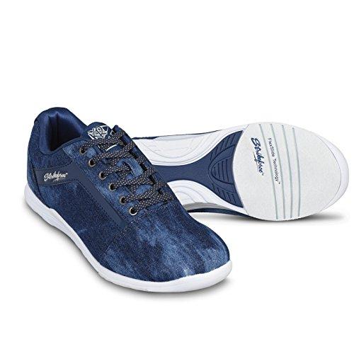 KR Strikeforce Women's Nova Lite Bowling Shoes, Denim Sparkle, Size 7.5