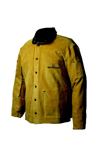 Caiman 3030-5 Large 30-Inch Gold Boarhide Welding Coat (Caiman Jacket Welding)