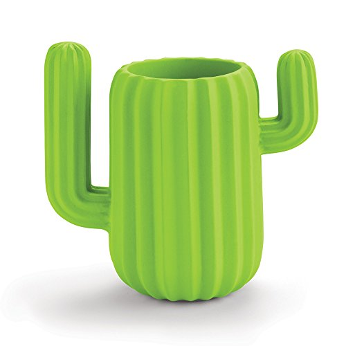 Mustard Pen Holder Desktop Organiser - Green Cactus (Desktop Magnetic Pen)