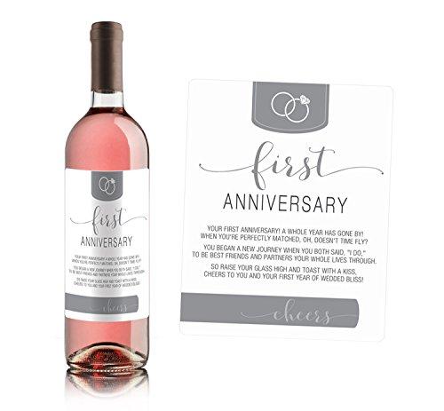 Wine Bottle Labels for bridal shower gift, wedding gift, Wedding milestones, Wedding Firsts (Same Sex Couples) by Sblabels (Image #1)