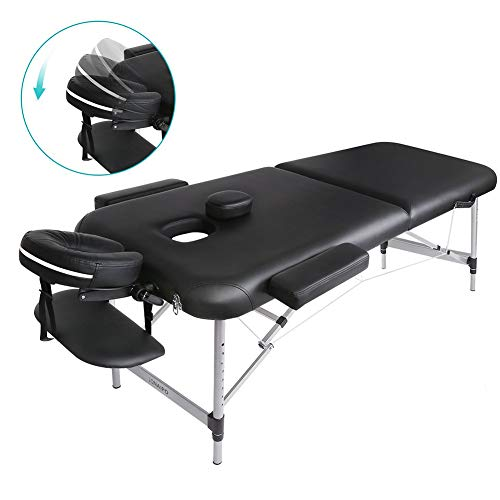 Massage table Portable Two-Folding Massage Bed Professional Comfortable SPA Therapy Tattoo Beauty Salon Bed