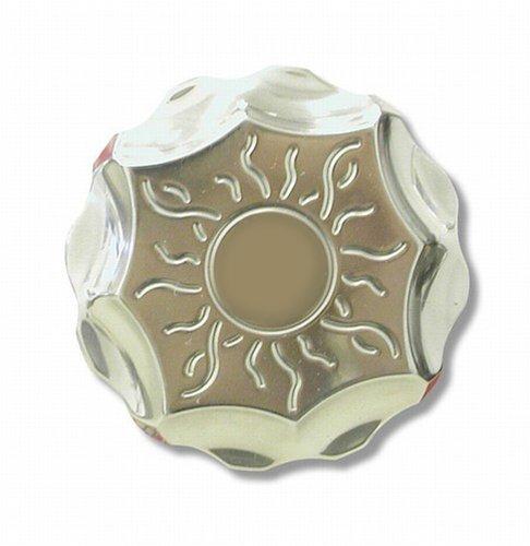 Yana Shiki A3151 Silver 3D Sun Design Reservoir Cap for Yamaha Sport Motorcycles