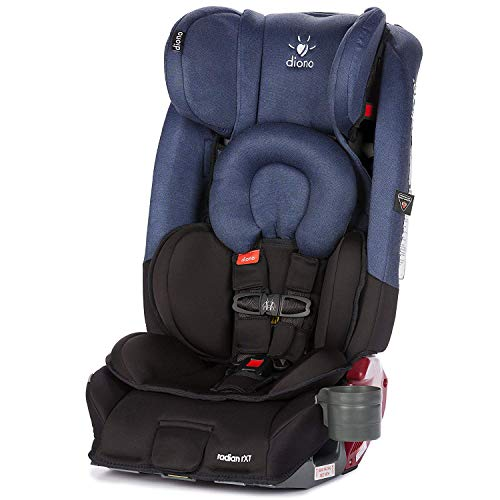 Diono Radian RXT All-in-One Convertible Car Seat, For Children from Birth to 120 Pounds, Black Cobalt